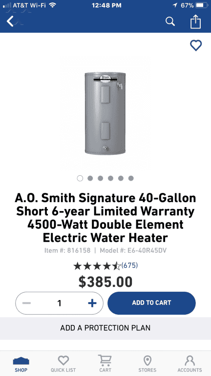 national water heater rental reviews