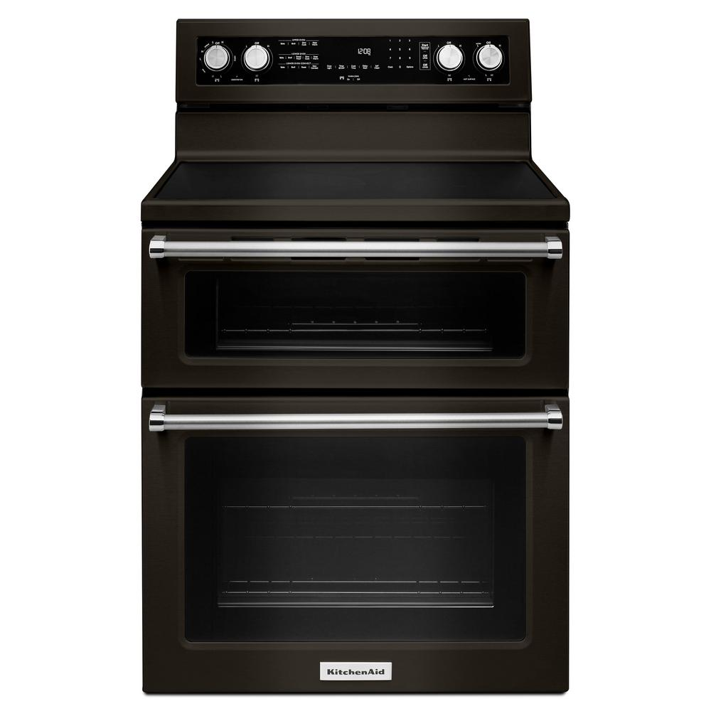 kitchenaid double oven electric range reviews