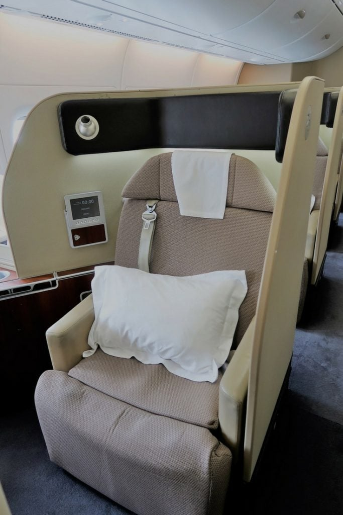qantas first class a380 review