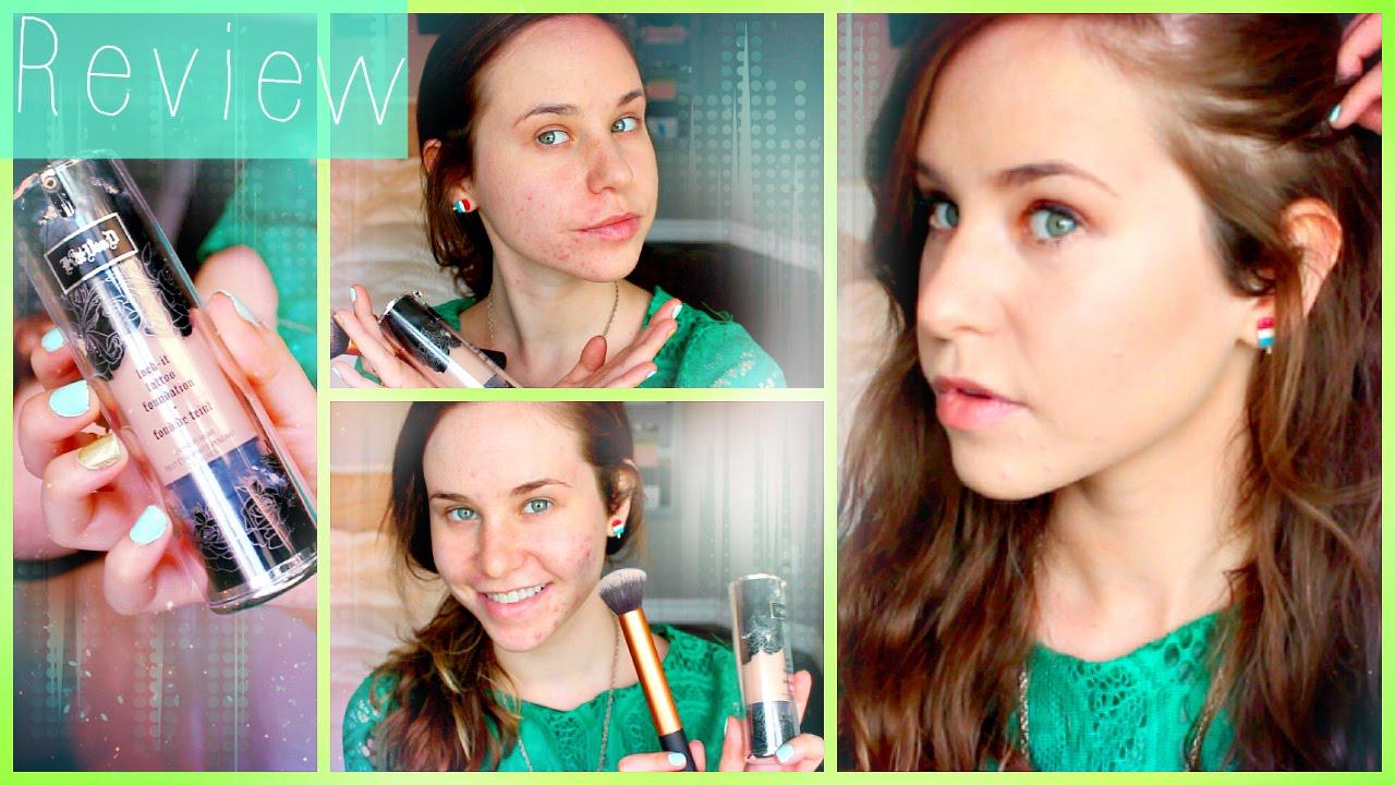 kat von d lock it foundation review acne