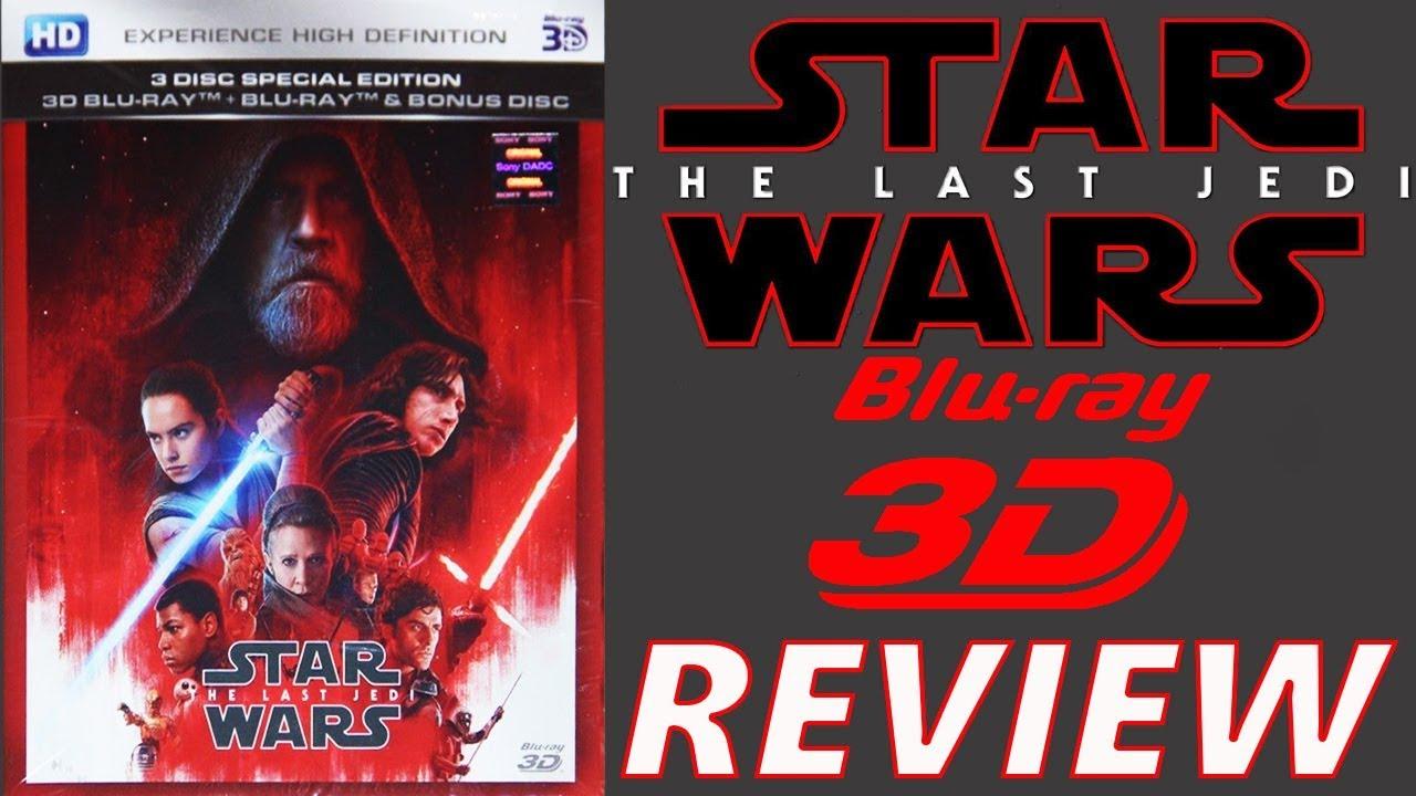 last jedi 3d blu ray review