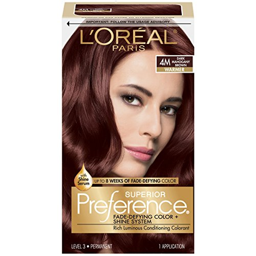 loreal preference dark mahogany brown reviews