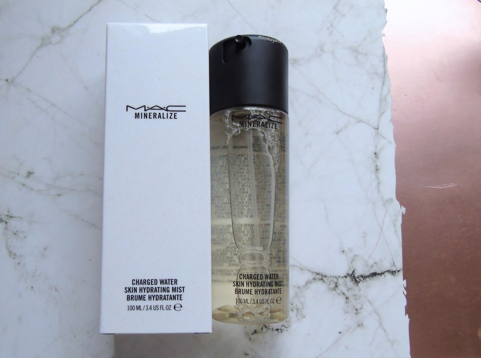 mac charged water charcoal spray review