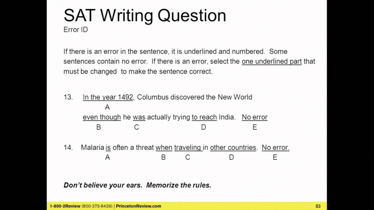 princeton review sat practice test 4 answers